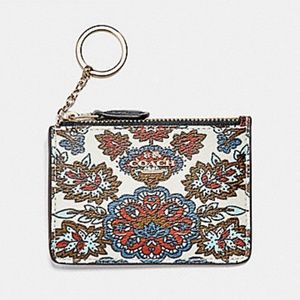 🔜COACH Mini Card Skinny Keychain ID Wallet